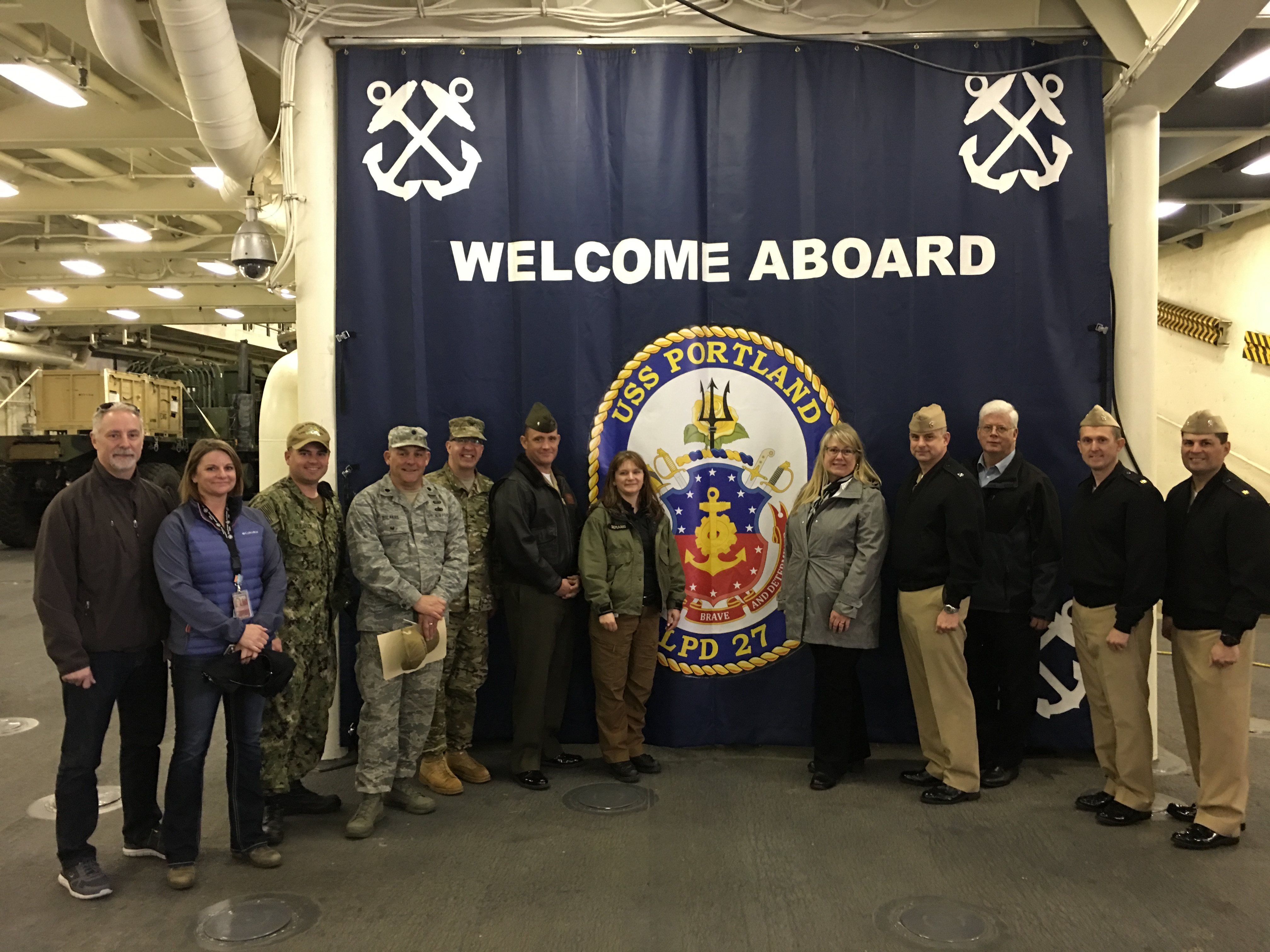 USS Portland VIP Tour, Oregon Military Department, Naval Dignitaries, Local Emergency Managers