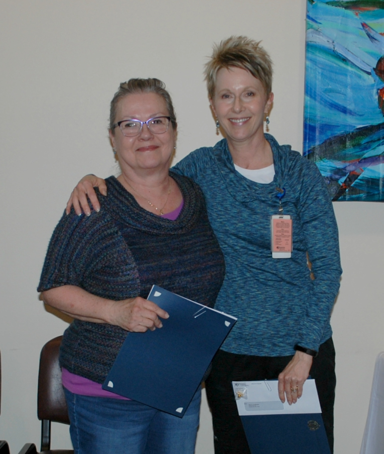 Carol Scanlan, left, and Tracy Dahlman