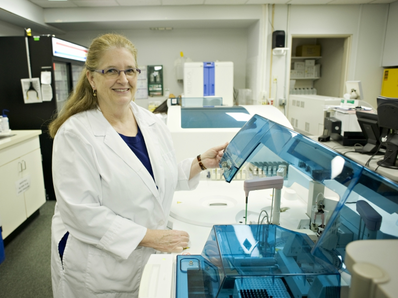 Laboratory coordinator Diane Welsh