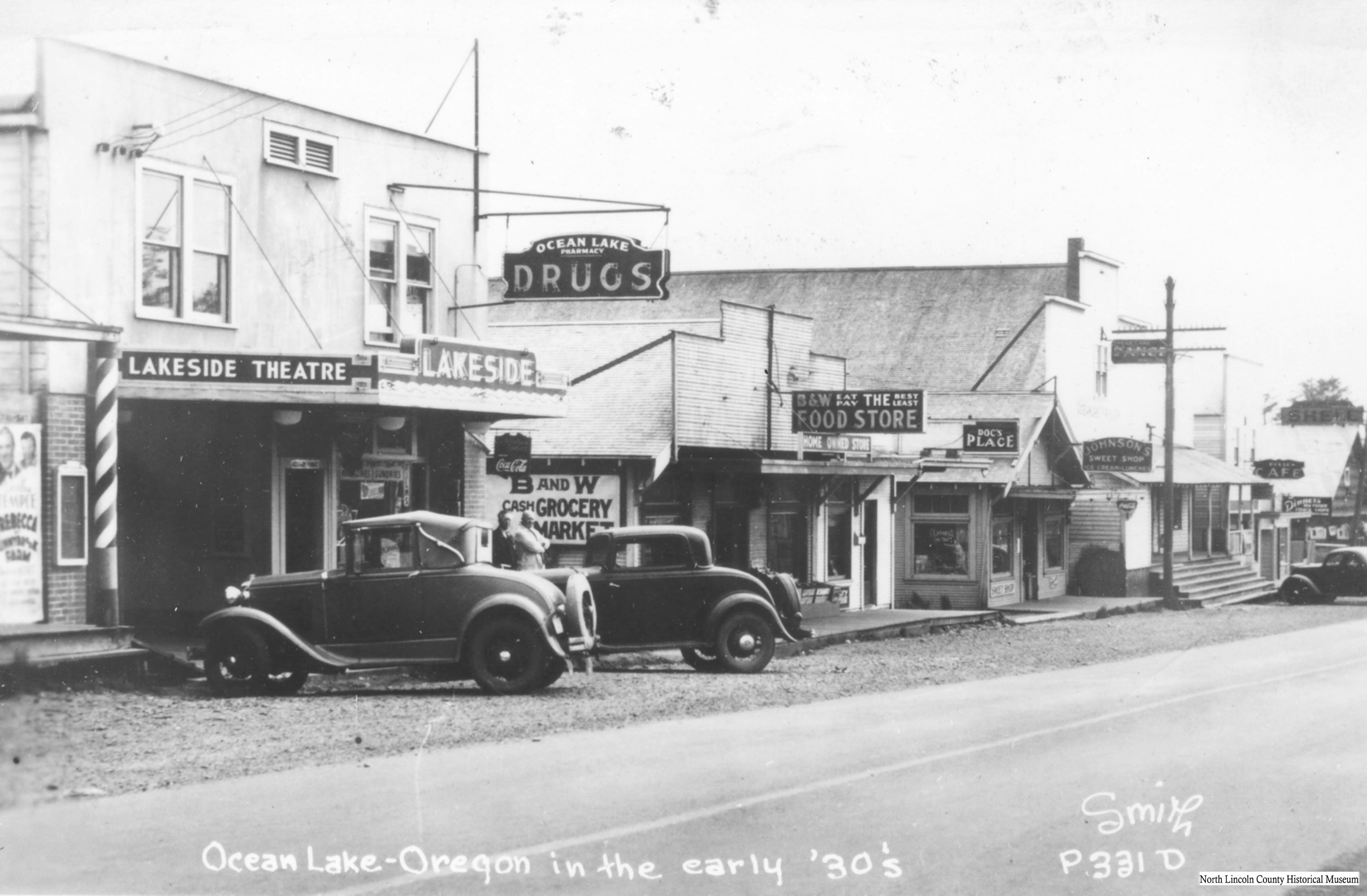 Lakeside Theatre, now the Bijou, in Oceanlake, early 1930sWM
