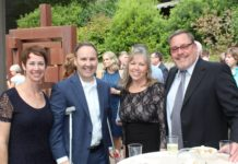 Among those enjoying the Summer Gala are, from left, Kerry and Doug Boysen, President and CEO of Samaritan Health Services; Virginia Riffle, COO of Samaritan North Lincoln Hospital, and her husband, Bob Riffle.