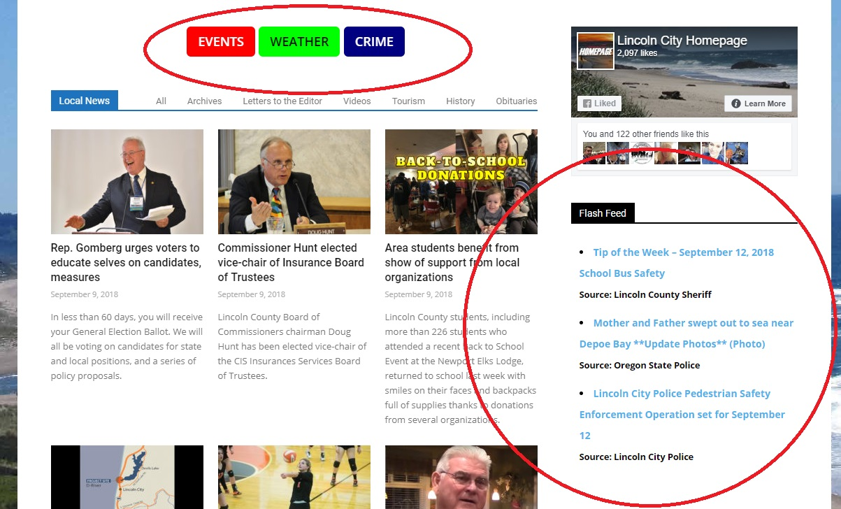 Homepage announces instant access to local crime news ...