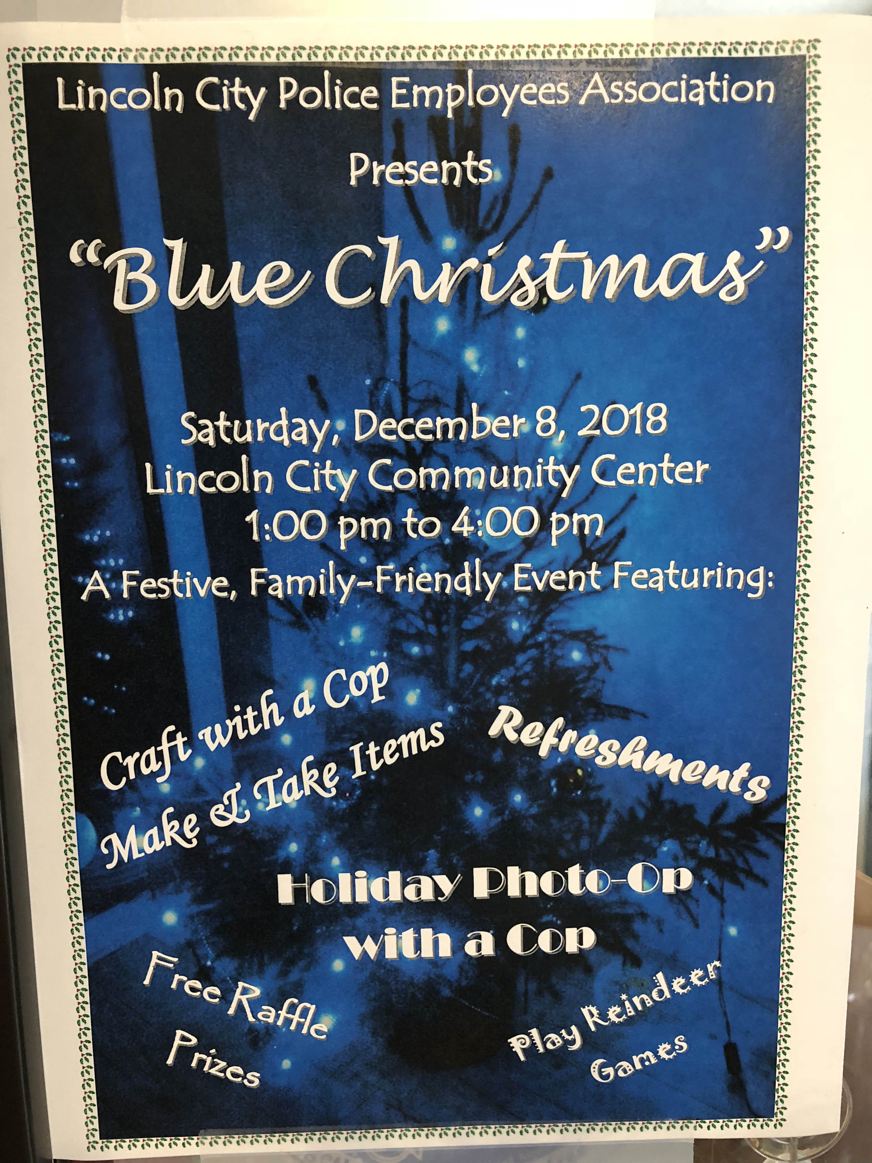 Blue Christmas Lincoln City Police