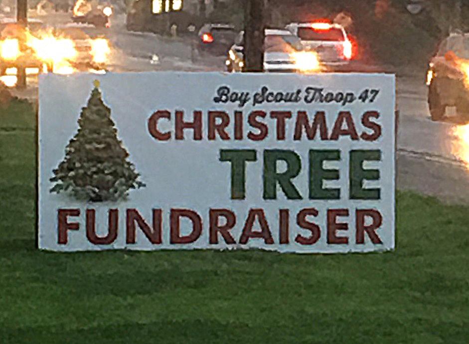 Christmas Tree sign Troop 47