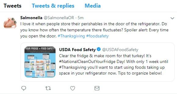 Salmonella Twitter