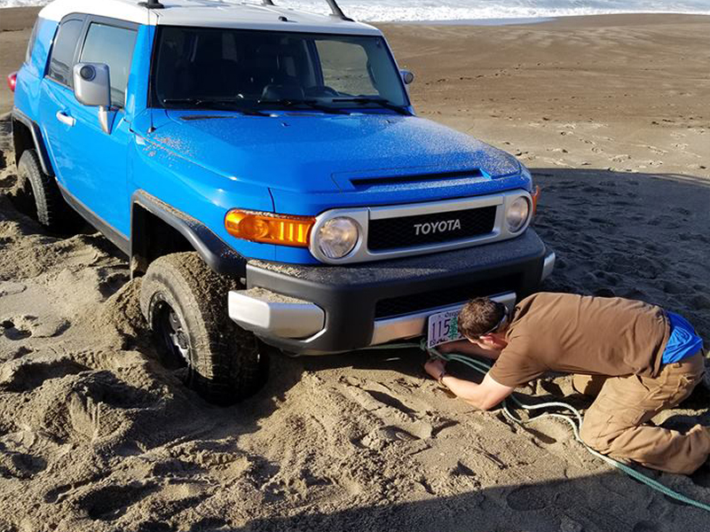 Stuck in sand