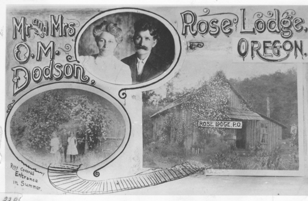 #150 - Rose Lodge Mr. & Mrs. Dodson 1913 and Rose LODGE p.o. sEE PICTURE FOR MORE INFORMATION