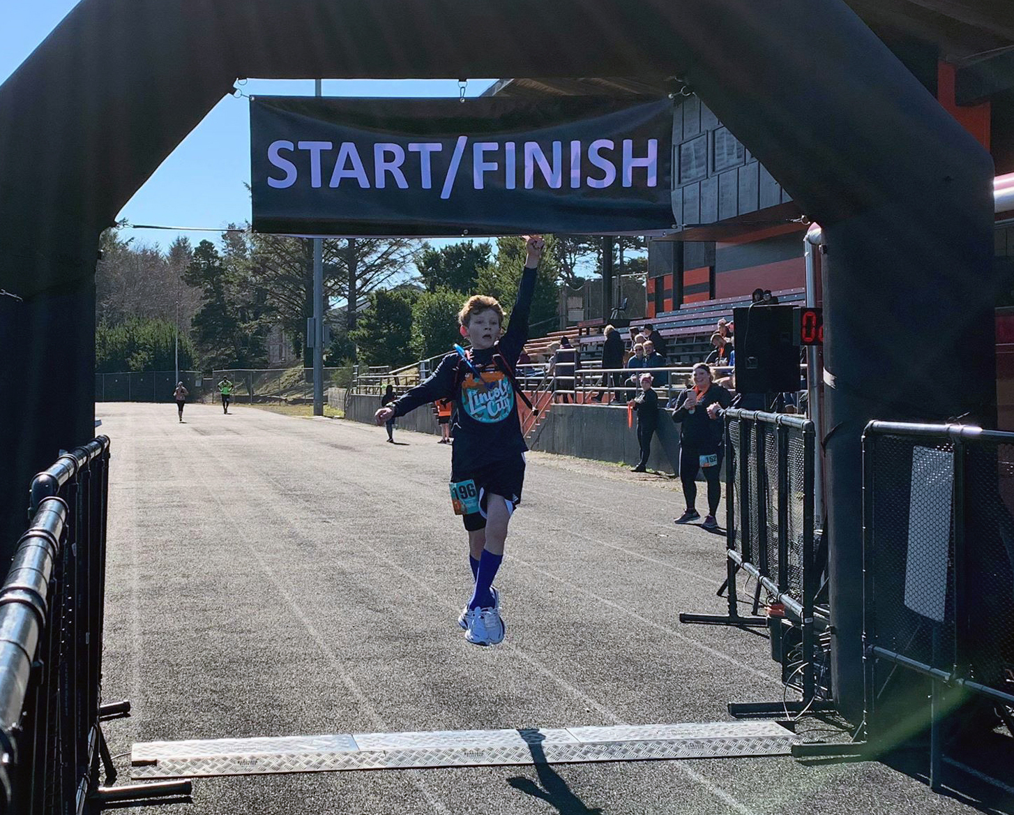 Ryan Best Jumps at Lincoln City 10K