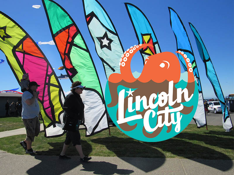 Lincoln City feather banners
