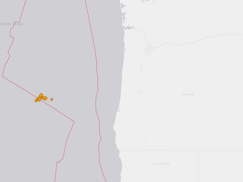 Oregon Coast Earthquakes