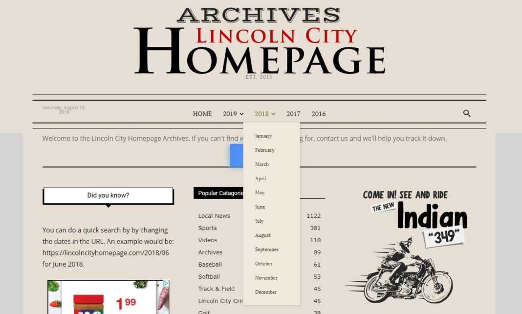 Lincoln City Homepage Archives
