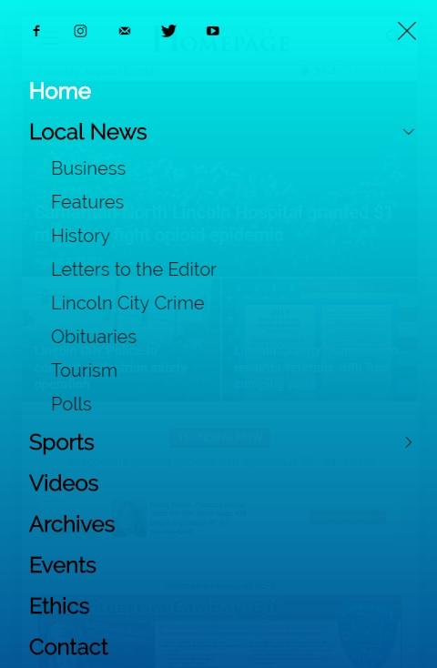 Lincoln City Homepage Mobile Menu