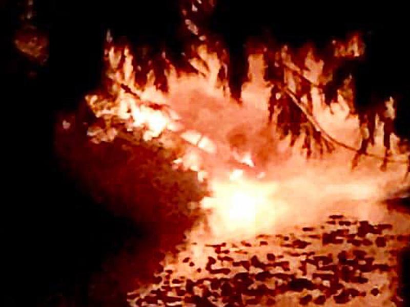 Devils Lake Fire