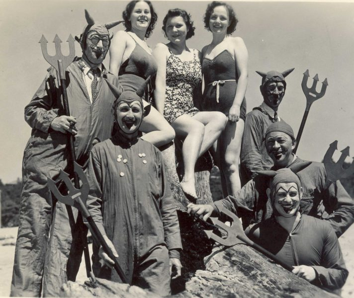 The Red Devils and Participants of the Redhead Roundup pose in the 1930s
