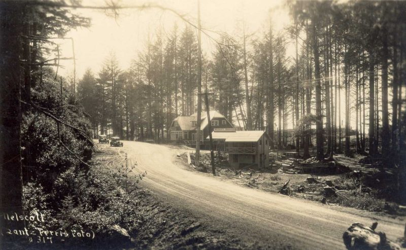 Highway 101 at Nelscott in the 1930s