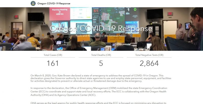 Oregon Office of Emergency Management COVID RESPONSE