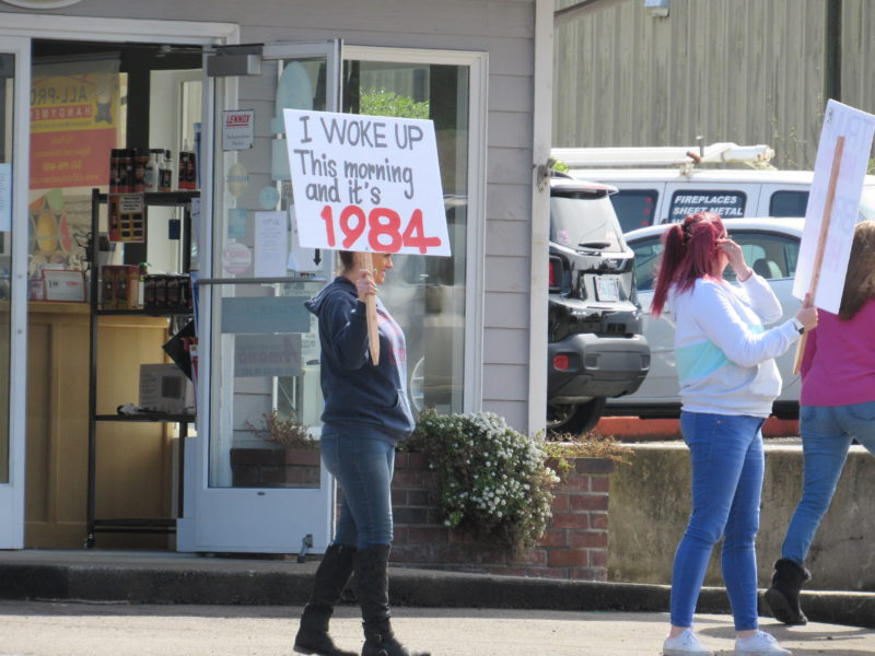 Protest in Lincoln City