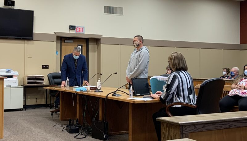 Oleg Alexander Saranchuck, 45, appeared Monday, July 13, before Judge Thomas Branford for arraignment on felony charges of Open Riot and other counts stemming from a July 4 hate-filled confrontation with beachgoers and police on a Lincoln City beach. He was the first of seven Clark County men accused of screaming racist insults at an African American family and challenging police to fight.
