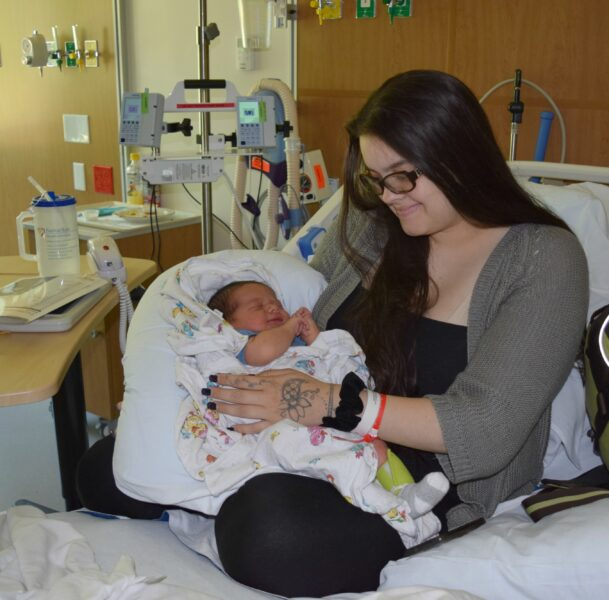 Tammy King with baby Christian West