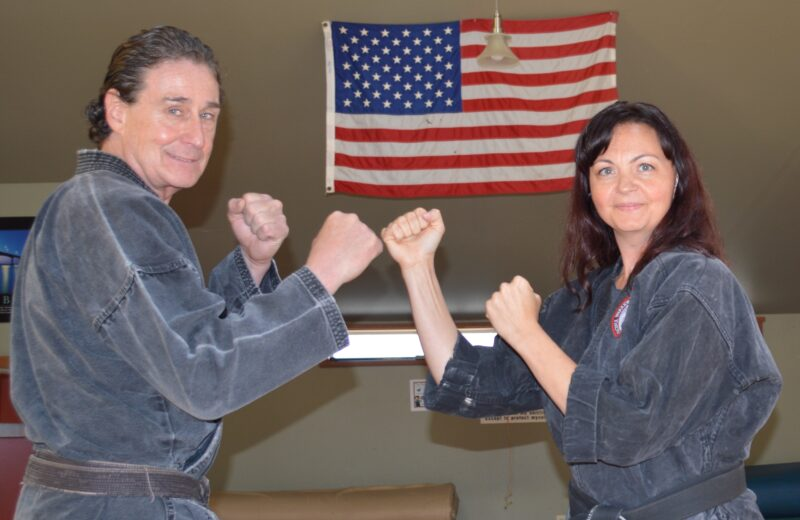 Robert Dempewolf of Taft Athletic Club, left, will host black belt self-defense expert Tiffany Richards at his gym and martial arts center for an Aug. 26 seminar for women and teens. TAC is located at 4744 S. Hwy. 101 in Lincoln City.