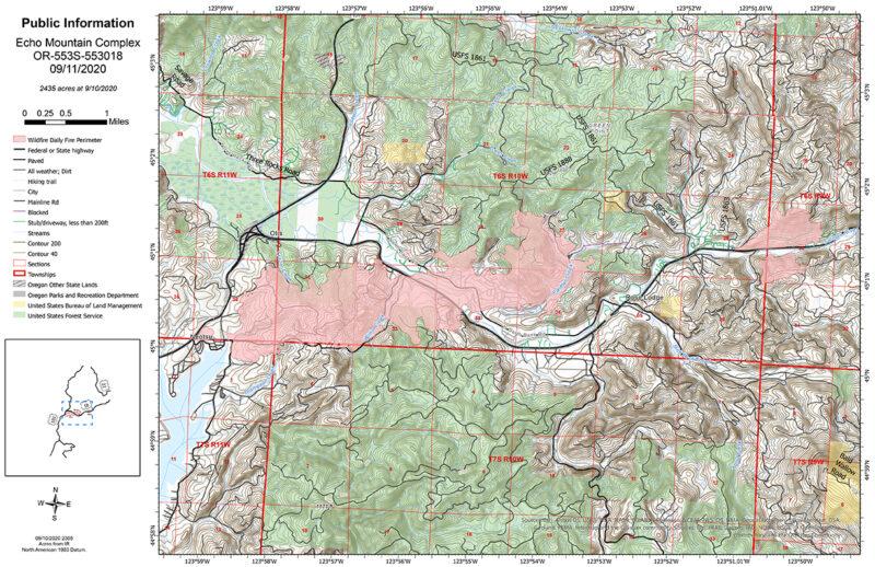 Echo Mountain Fire 9-11
