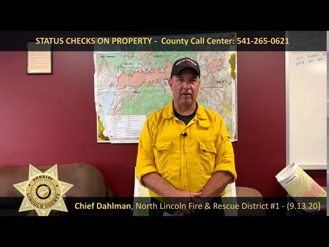 NLFR Chief Dahlman makes statement about evacuees returning to their homes